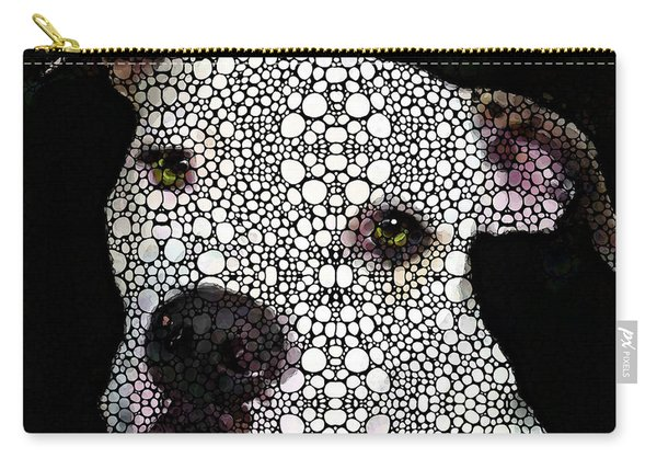 Stone Rock'd Dog By Sharon Cummings Carry-all Pouch
