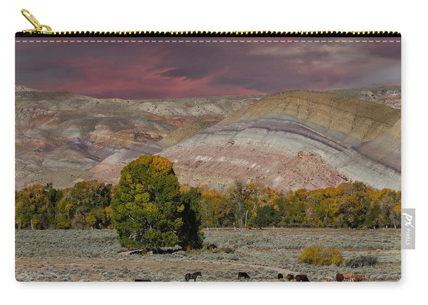 Storm Clouds Above The Wind River Basin Carry-all Pouch