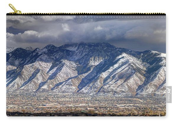 Storm Front Passes Over The Wasatch Mountains And Salt Lake Valley - Utah Carry-all Pouch