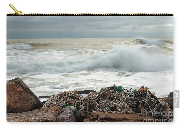 Storm Surf At Rye Beach Carry-all Pouch