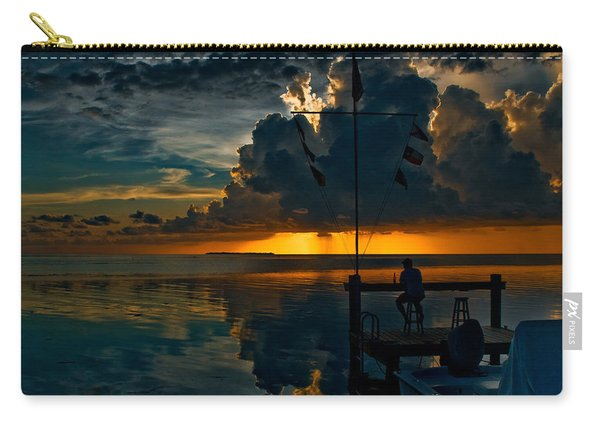 Sunset Tropical Storm And Watcher In Florida Keys Carry-all Pouch
