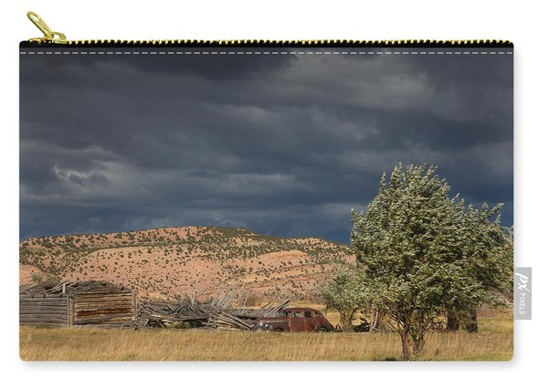 Storm Whipping Desert Homestead Carry-all Pouch