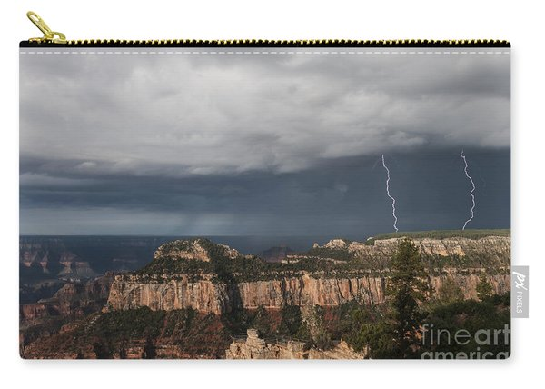 Storms At The Grand Canyon North Rim Carry-all Pouch