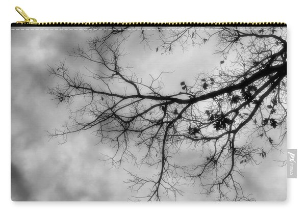 Stormy Morning In Black And White Carry-all Pouch