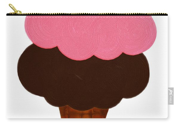 Strawberry And Chocolate Ice Cream Cone  Carry-all Pouch