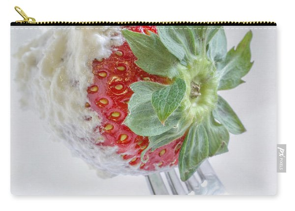 Strawberry And Whipped Cream Carry-all Pouch