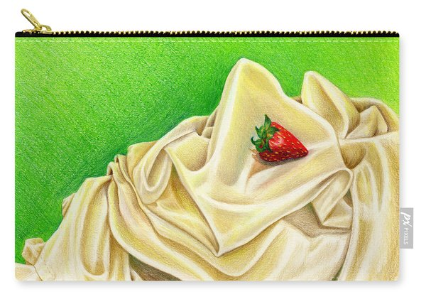 Carry-all Pouch featuring the painting Strawberry Passion by Nancy Cupp