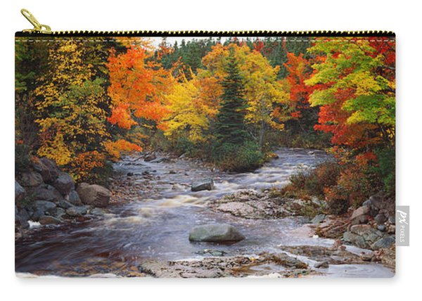 Stream With Trees In A Forest Carry-all Pouch