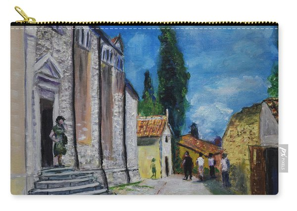 Street View In Rovinj Carry-all Pouch