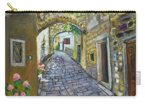 Street View In Pula Carry-all Pouch