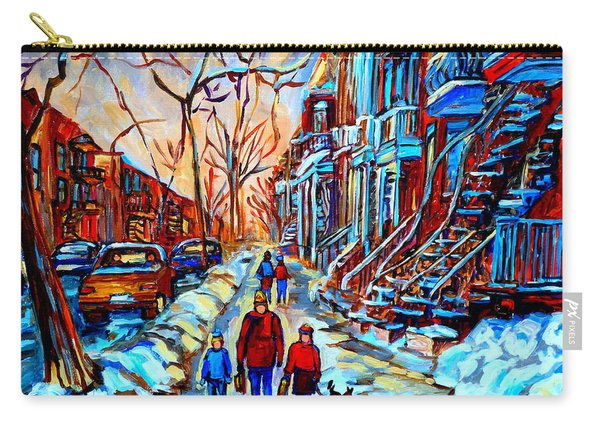 Streets Of Montreal Carry-all Pouch