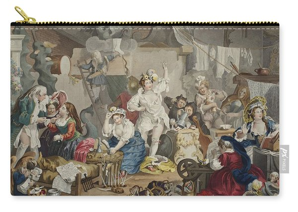 Strolling Actresses Dressing In A Barn Carry-all Pouch