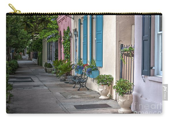 Strolling Down Rainbow Row Carry-all Pouch