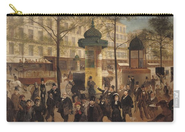 Study For A Panorama Of The Boulevard De Montmartre, 1877 Oil On Canvas Carry-all Pouch