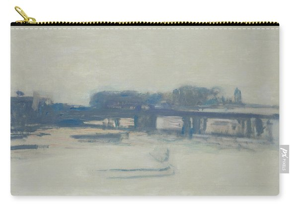 Study For Charing Cross Bridge, 1899-1901 Oil On Canvas Carry-all Pouch