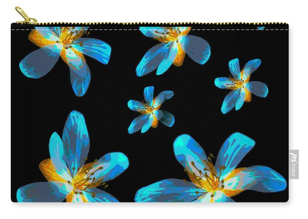 Study Of Seven Flowers #4 Carry-all Pouch