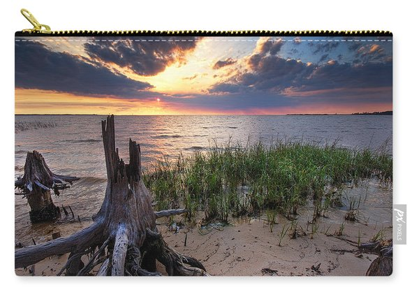 Stumps And Sunset On Oyster Bay Carry-all Pouch