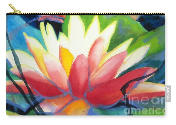 Styalized Lily Pads 3 Carry-all Pouch