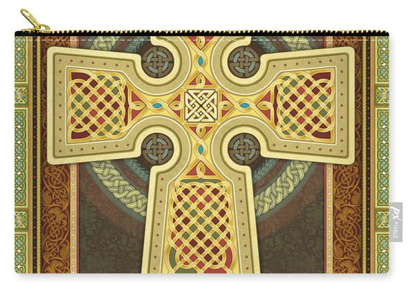 Stylized Celtic Cross Carry-all Pouch