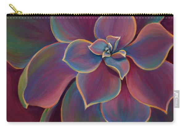 Carry-all Pouch featuring the painting Succulent Delicacy by Sandi Whetzel