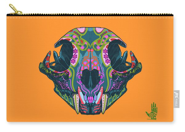 Carry-all Pouch featuring the digital art Sugar Lynx  by Nelson dedos Garcia