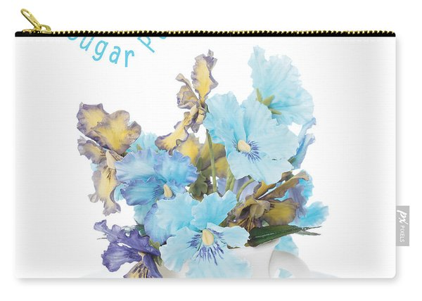 Sugar Paste Pansies Carry-all Pouch