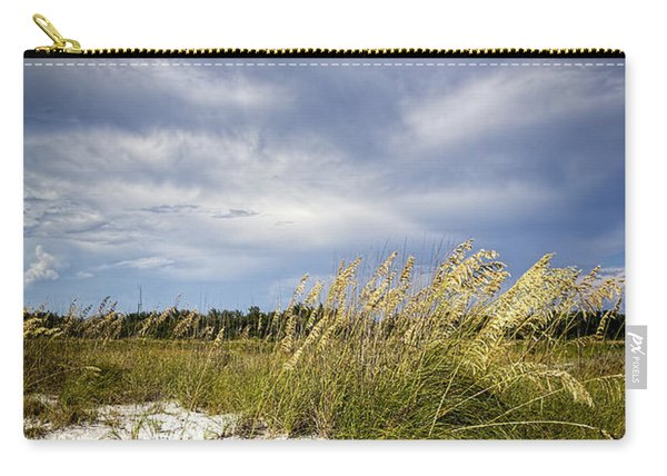 Sugar Sand And Sea Oats Bw Carry-all Pouch
