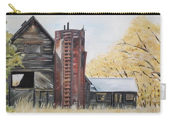Golden Aged Barn -washington - Red Silo  Carry-all Pouch