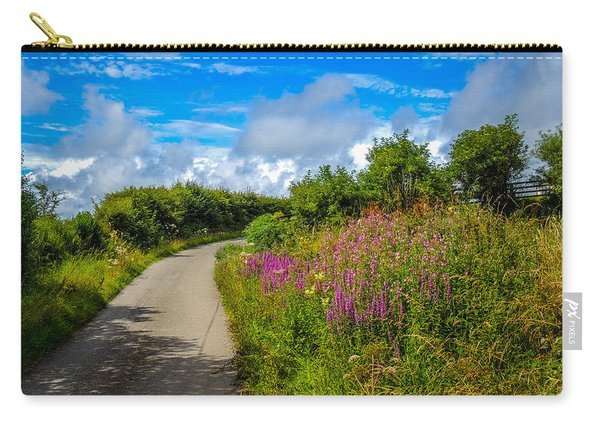 Summer Flowers On Irish Country Road Carry-all Pouch