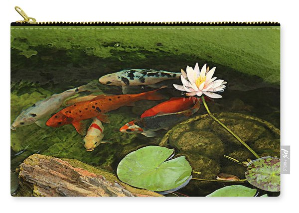 Summer Koi And Lilly Carry-all Pouch