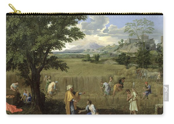 Summer, Or Ruth And Boaz, 1660-64 Oil On Canvas Carry-all Pouch