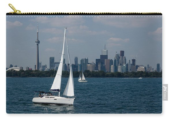 Summer Sailing Postcard From Toronto Carry-all Pouch
