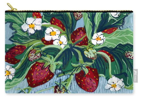 Summer Strawberries Carry-all Pouch