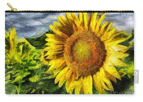 Sunflower Drawing  Carry-all Pouch