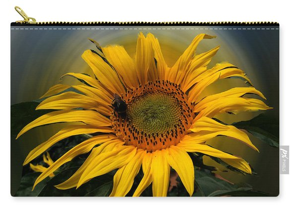 Carry-all Pouch featuring the photograph Sun Flower Summer 2014 by Colette V Hera  Guggenheim