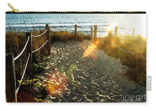 Sun Ray Beach Path Carry-all Pouch
