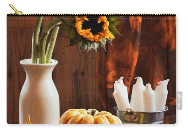 Sunflower And Gourds Still Life Carry-all Pouch