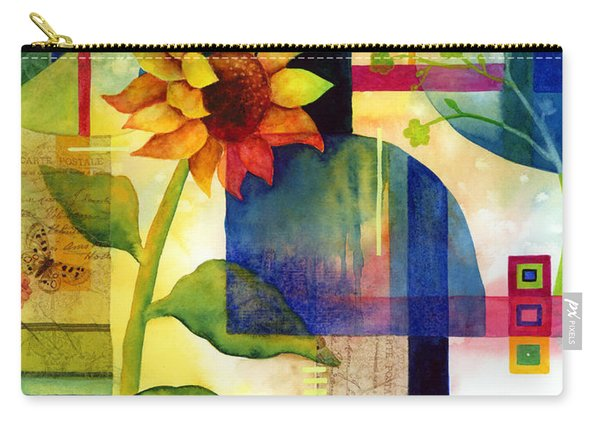 Sunflower Collage Carry-all Pouch