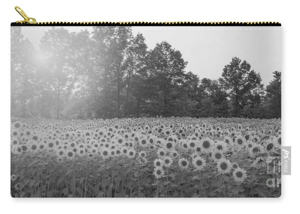 Sunflower Sunset Bw Carry-all Pouch
