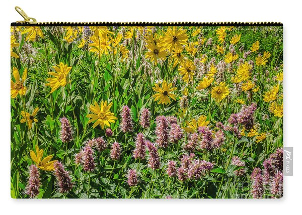 Sunflowers And Horsemint Carry-all Pouch
