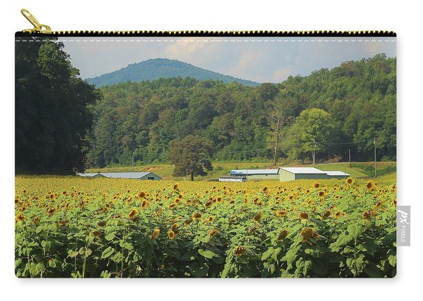 Sunflowers And Mountain View 2 Carry-all Pouch