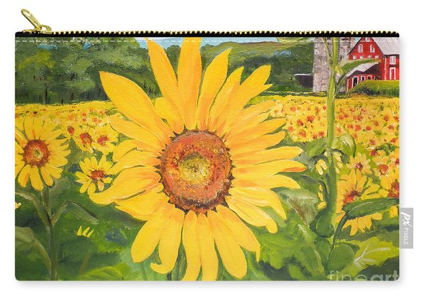 Sunflowers - Red Barn - Pennsylvania Carry-all Pouch