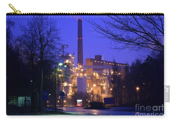 Sunila Pulp Mill By Rainy Night Carry-all Pouch
