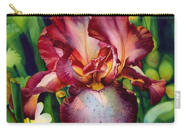 Sunlit Iris Carry-all Pouch