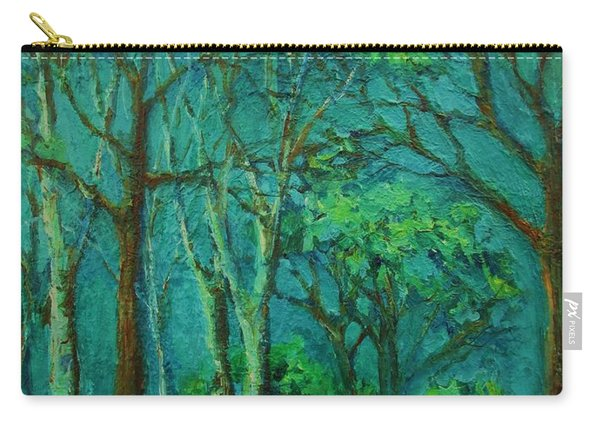 Sunlit Woodland Path Carry-all Pouch