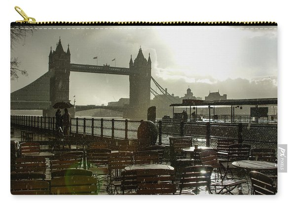 Sunny Rainstorm In London England Carry-all Pouch