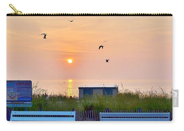 Sunrise At Rehoboth Beach Boardwalk Carry-all Pouch