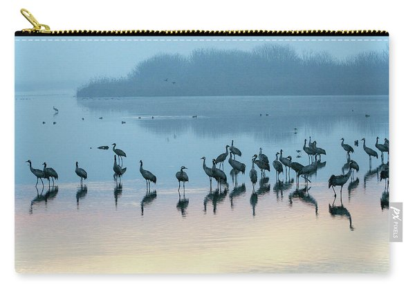 Sunrise Over The Hula Valley Israel 5 Carry-all Pouch