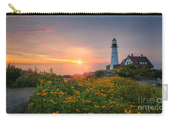 Sunrise Bliss At Portland Lighthouse Carry-all Pouch