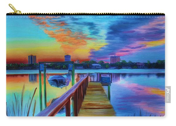 Sunrise On The Dock Carry-all Pouch